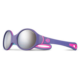 Julbo Baby 2-4Y Loop Spectron 4 Sunglasses Purple/Sky Blue/Fluorescent Pink-Gray Flash Silver